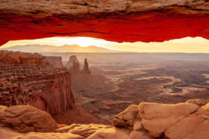 Sunrise over Mesa Arch at Canyonlands National Park, Utah, Photo Credit: Vezzani Photography