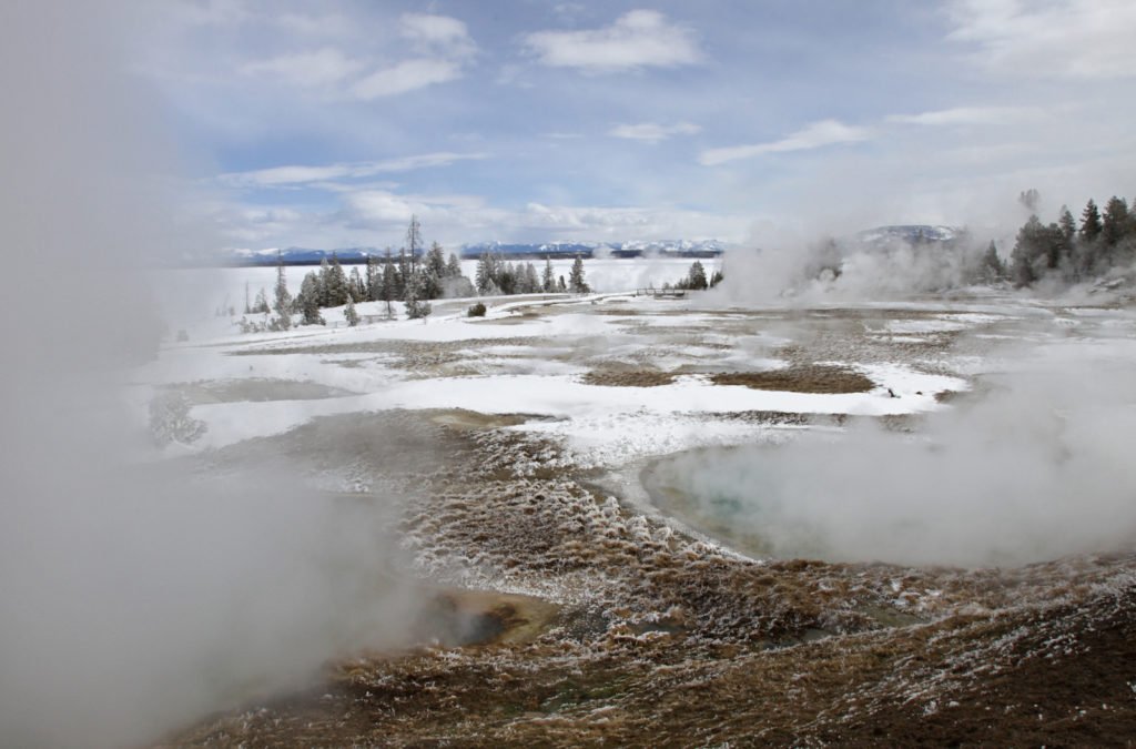 West Thumb Geyser Basin, Yellowstone National Park, Photo Credit: Jim Peaco, NPS