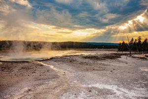 Celestine Pool, Fountain Paint Pot Trail, Lower Geyser Basin, Yellowstone National Park, Wyoming