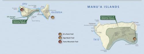 Manu'a Islands Map