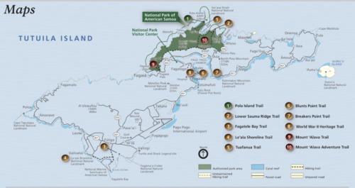 Tutuila Island Map