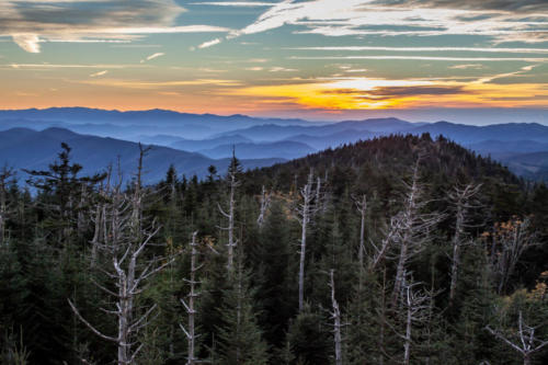 Sunset at Clingman's Dome, Great Smoky Mountains National Park, Tennessee, North Carolina | Photo Credit: Vezzani Photography